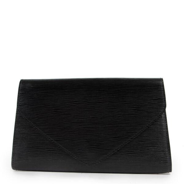 Louis Vuitton Black Epi Leather Art Deco Clutch