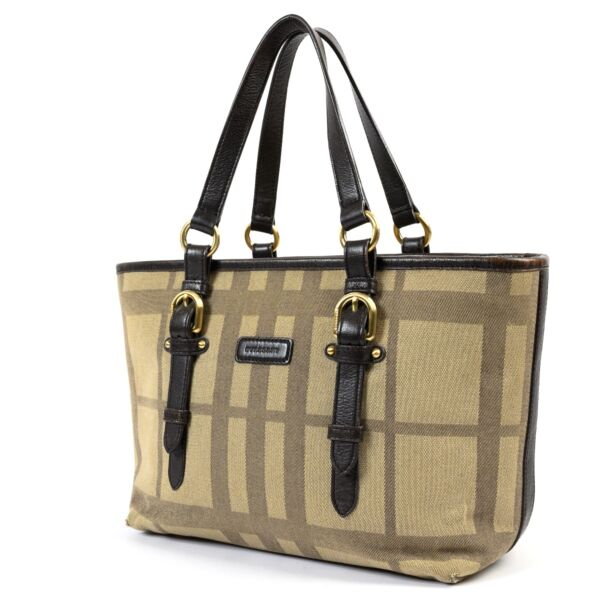 Burberry Brown Canvas Top Handle
