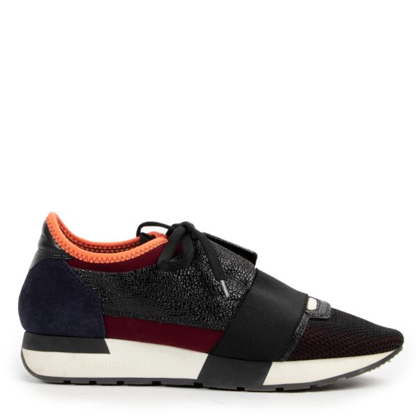 Balenciaga Tricolor Leather & Mesh Race Runner Sneakers - size 38