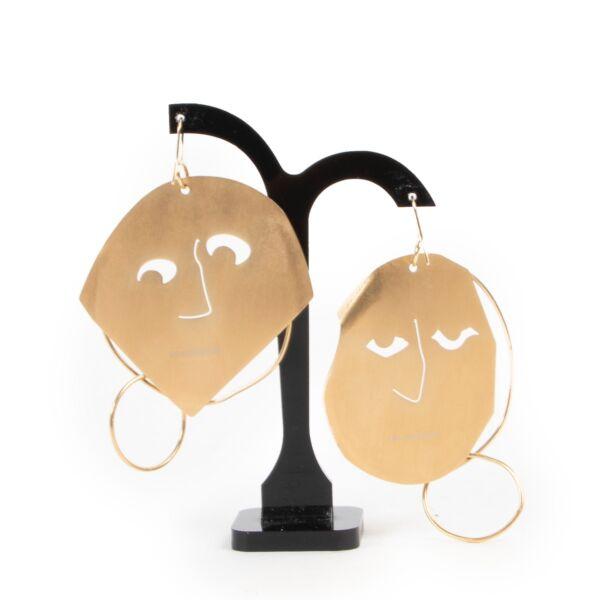 JW Anderson Gold Face Earrings