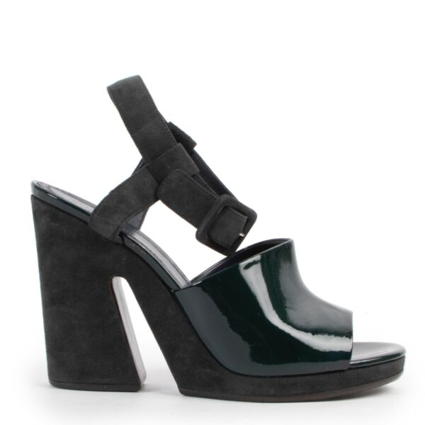 Shop safe online 100% authentic second hand Celine Dark Green Heels - Size 38 in very good condition at the right price at Labellov in Antwerp.