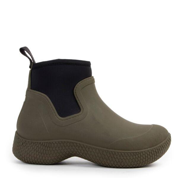 Celine Khaki Outdoor Ankle Boots - size 38