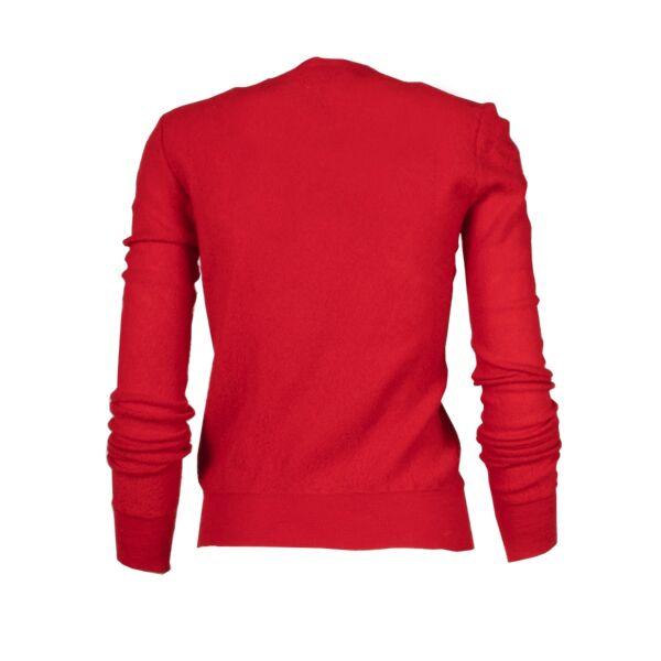 Céline Red Wool Sweater - Size M