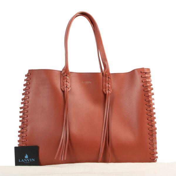 Lanvin Orange Tote Shoulder Bag