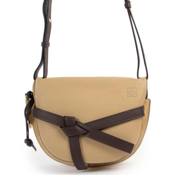 Loewe Beige Small Gate Crossbody Bag