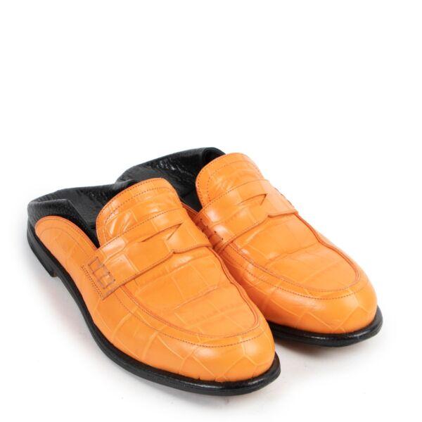 Loewe Orange Slide in Loafers - Size 38