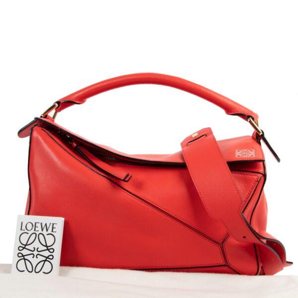 Loewe Red Puzzle Crossbody Bag