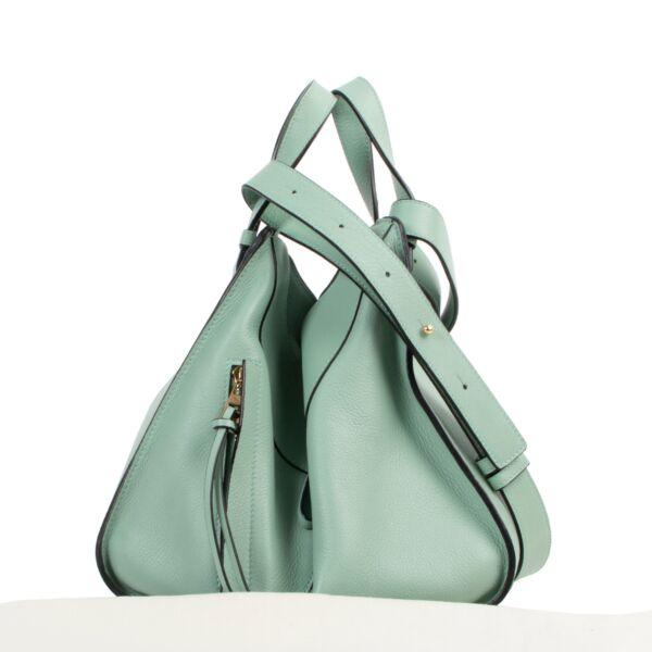 Loewe Lime Green Small Hammock Crossbody Bag