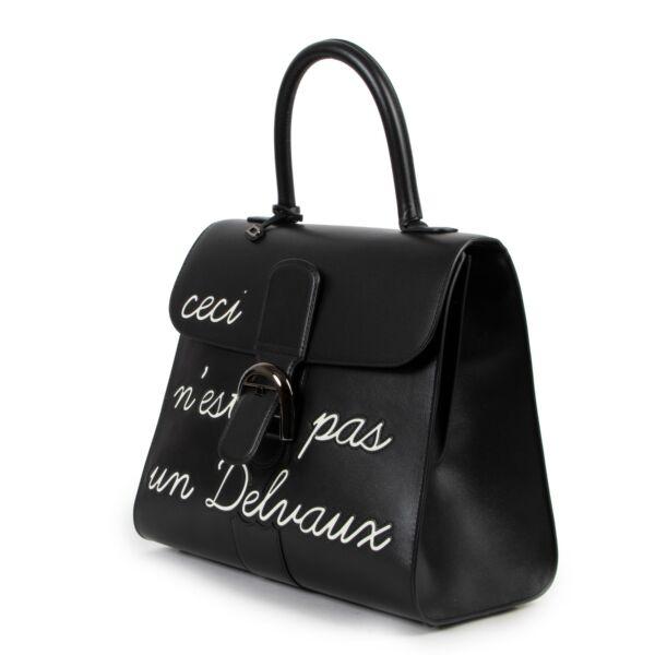 Delvaux L'Humour MM Box Calf Ceci N'est Pas Un Delvaux