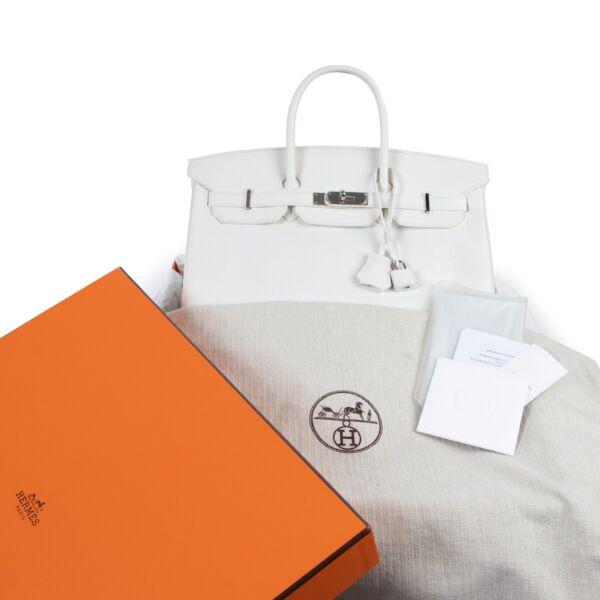 Hermès Birkin 35 White Taurillon Clemence PHW