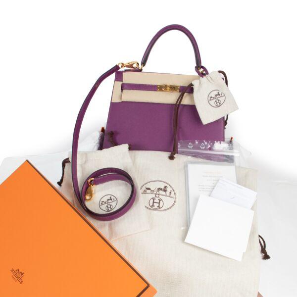 Hermès Kelly 25 Sellier Anemone Epsom GHW