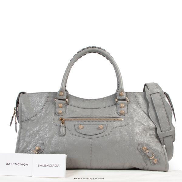 Balenciaga Gris Haussmannien Work Shoulder Bag