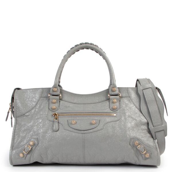 Buy an authentic second hand Balenciaga Grey Work Shoulder Bag at Labellov