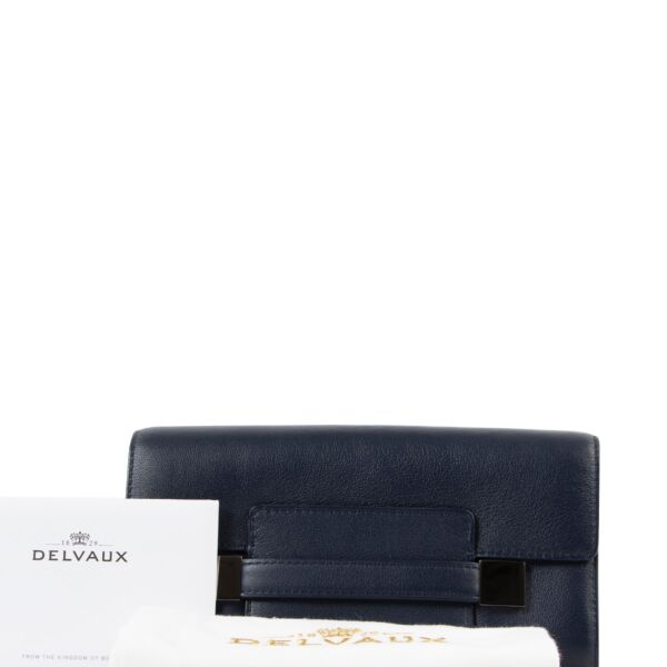Delvaux Madame Navy Long Wallet