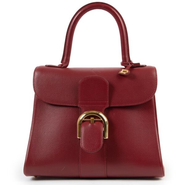 Buy an authentic second hand Delvaux Brilliant PM burgundy Top Handle at Labellov