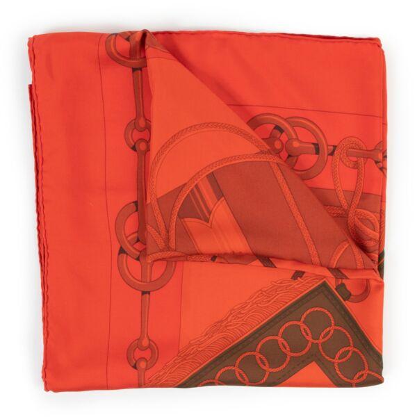 Hermès Orange Cliquetis Scarf