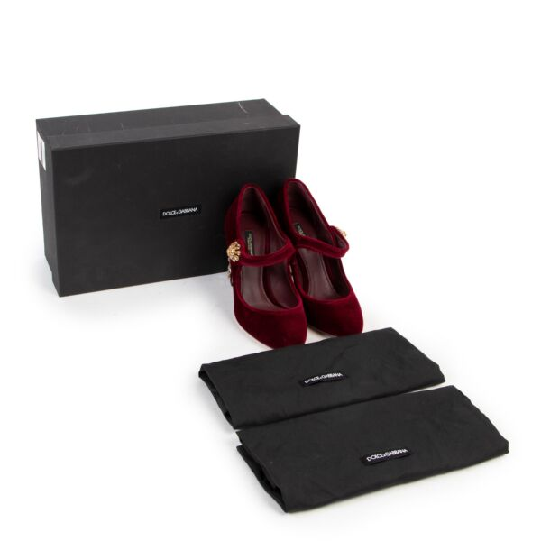Dolce & Gabbana Velvet Pumps - size 36.5