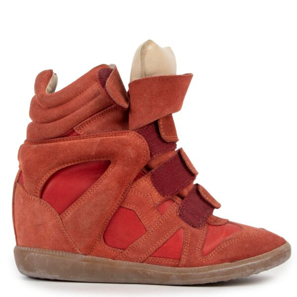 Isabel Marant Orange Beckett Sneakers - size 37
