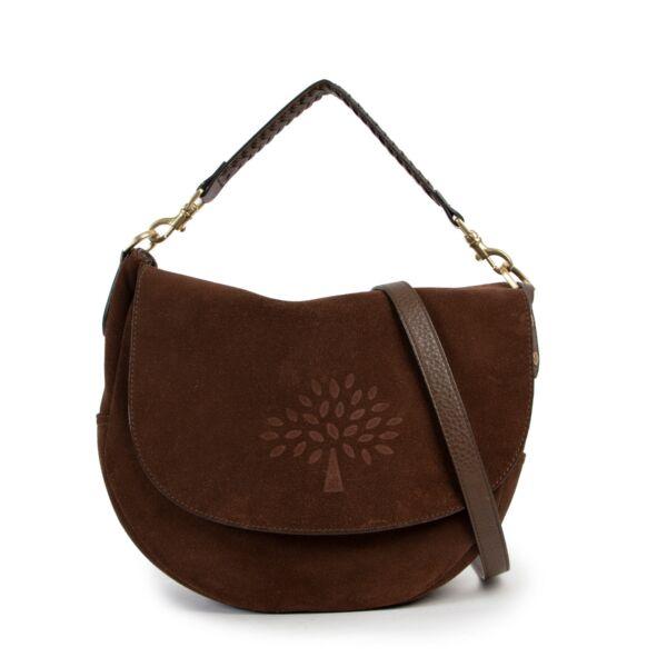 Mulberry Brown Suede Effie Satchel Shoulder Bag