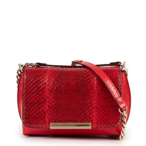 Emilio Pucci Red Python Crossbody Bag