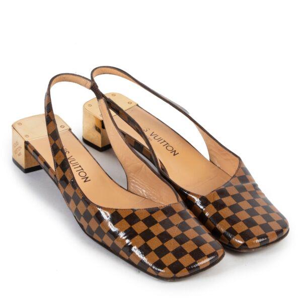 Louis Vuitton Damier Patent Leather Heels - Size 39