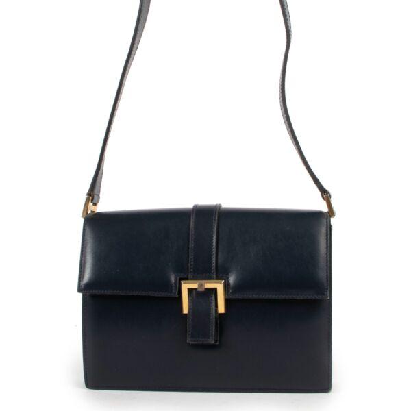 Get this Delvaux Dark Blue Shoulder Bag at Labellov online or in store