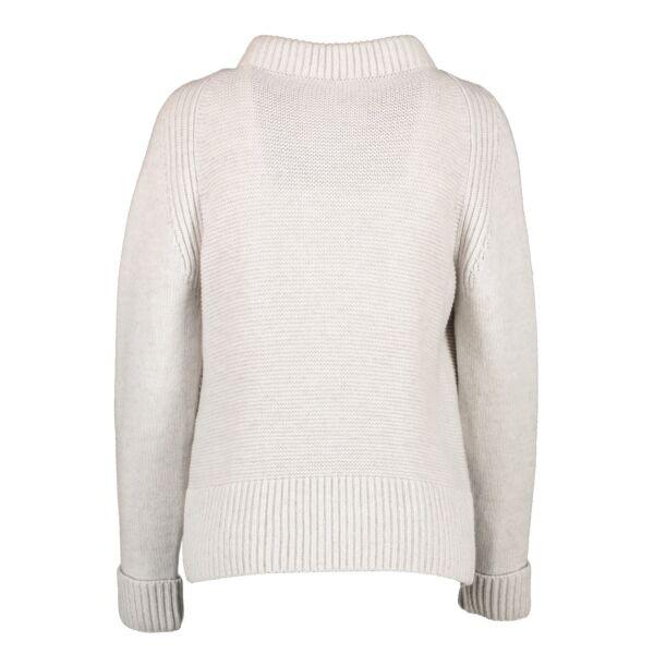 Hermès Grey Virgin Wool Sweater - Size 36