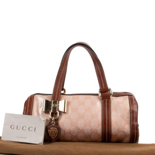 Gucci Duchessa Crystal GG Small Boston Bag