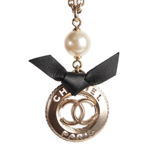 Chanel Silver and Black Necklace