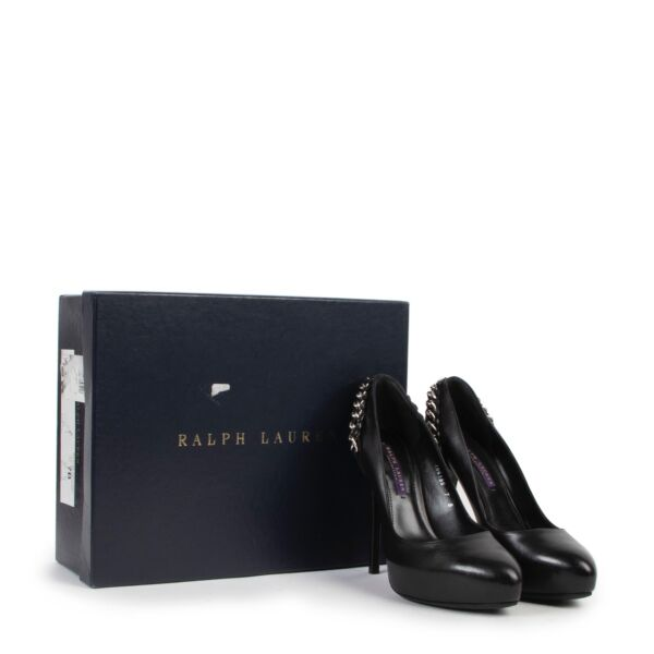 Ralph Lauren Black Bea Pumps - Size 37