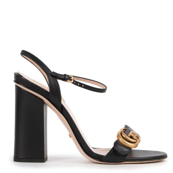 Gucci Black Marmont Heels - Size 38,5