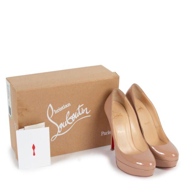 Christian Louboutin Nude Patent Bianca Heels - Size 39,5