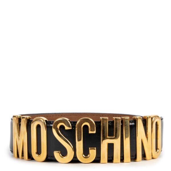 Moschino Black Redwall Belt - Size 46