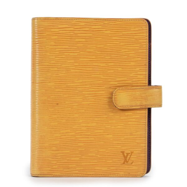 Louis Vuitton Yellow Epi Medium Ring Agenda Cover available at Labellov. Buy this Louis Vuitton Yellow Epi Medium Ring Agenda Cover now online or in store. Buy vintage or secondhand Louis Vuitton