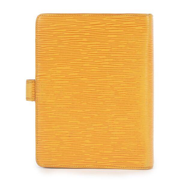 Louis Vuitton Yellow Epi Medium Ring Agenda Cover