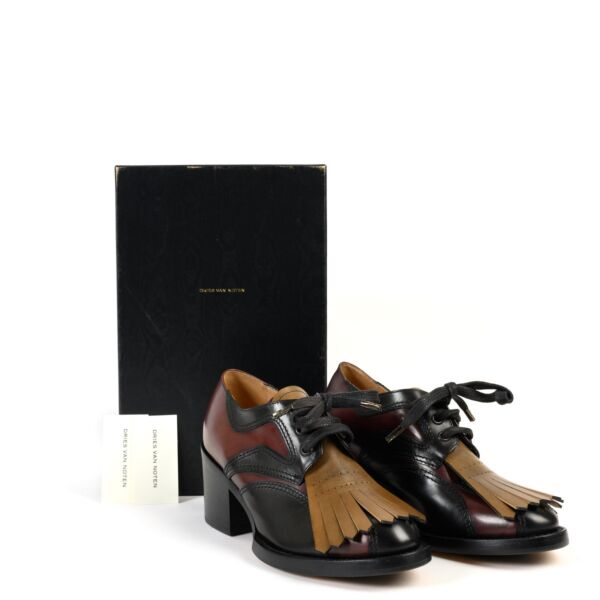 Dries Van Noten Brown Leather Lace-ups - Size 36