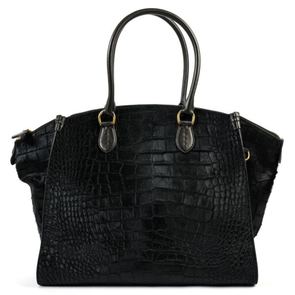 Ralph Lauren Black Pony Hair Shoulder Bag
