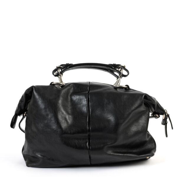 Gucci Black Leather Oversized Bag