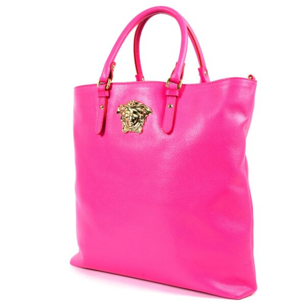 Versace Pink Medusa Tote Top Handle