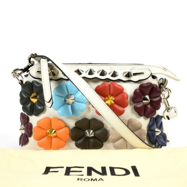 Fendi Multicolor Mini By The Way Studded Flower Crossbody
