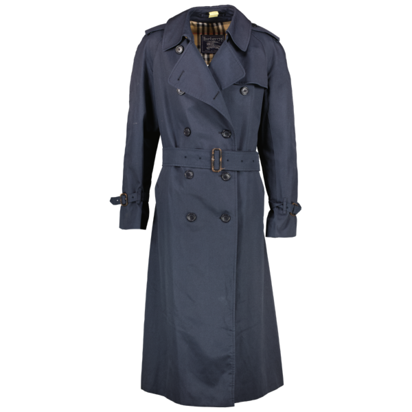 Shop safe online at Labellov in Antwerp this 100% authentic second hand Burberry Blue Trench Coat