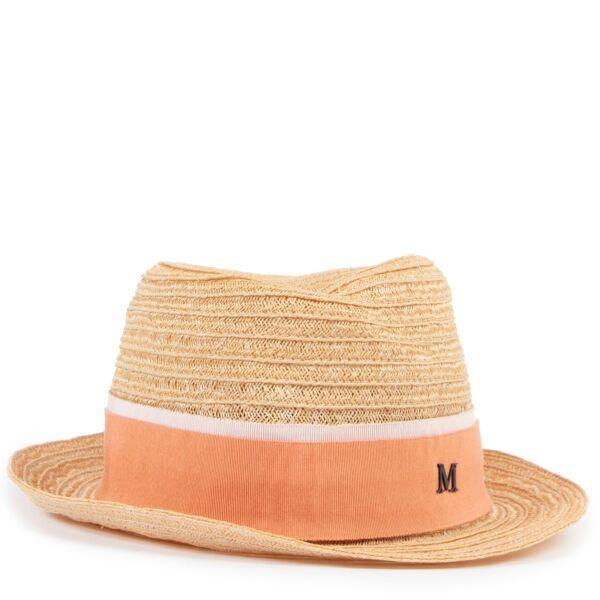 Maison Michel Beige Straw Hat - Size M