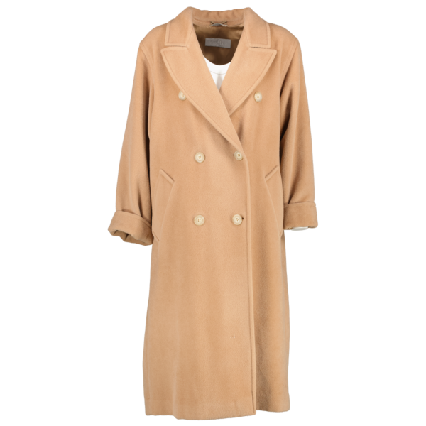 Shop safe online at Labellov in Antwerp this 100% authentic second hand Max Mara Camel Wool Coat - Size EU 38