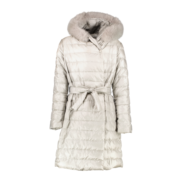 Shop safe online at Labellov in Antwerp this 100% authentic second hand Max Mara Silver Coat - Size 42