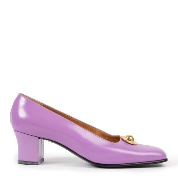 Shop safe online at Labellov in Antwerp these 100% authentic second hand Celine Lilac Heels - Size 39