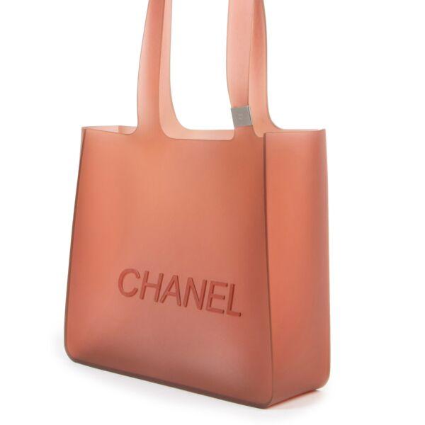Chanel Orange Jelly Rubber Tote Bag