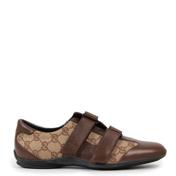 Shop safe online at Labellov in Antwerp this 100% authentic second hand Gucci Monogram Sneakers - Size 38,5