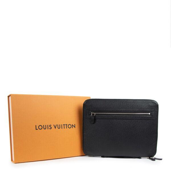 Louis Vuitton Black Taiga Leather Briefcase