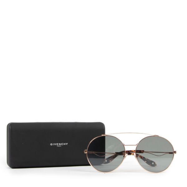 Givenchy Rose Gold Aviator Sunglasses