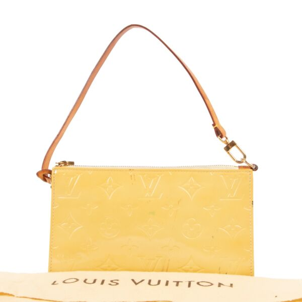Louis Vuitton Yellow Monogram Vernis Lexington Pochette